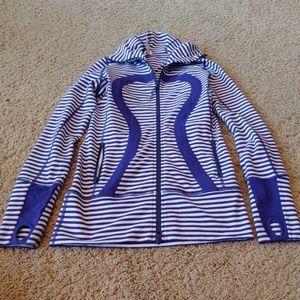 Lululemon Stripe Zip Up, Size 4